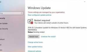 Накопительное обновление KB4100403 Windows 10 версия 1803 Build 17134,81