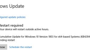 Windows 10 KB4284835 Обновление Build 17134.112 журнал изменений (Версия 1803)