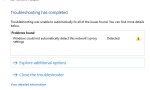 Windows 10 не может определить настройки сетевого прокси? Здесь 5 рабочих решений