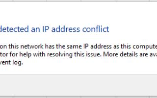 Как исправить конфликт IP-адресов в Windows 10, 8.1 и 7