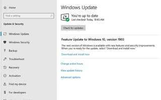 Windows 10 Версия 1903, май 2019 г. Обновление выпущено Вот как это сделать прямо сейчас!