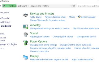 Как исправить устройства и принтеры не загружаются в Windows 10 версии 1903