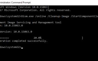 Исправлена ошибка DISM 0x800f081f Не удалось найти исходные файлы