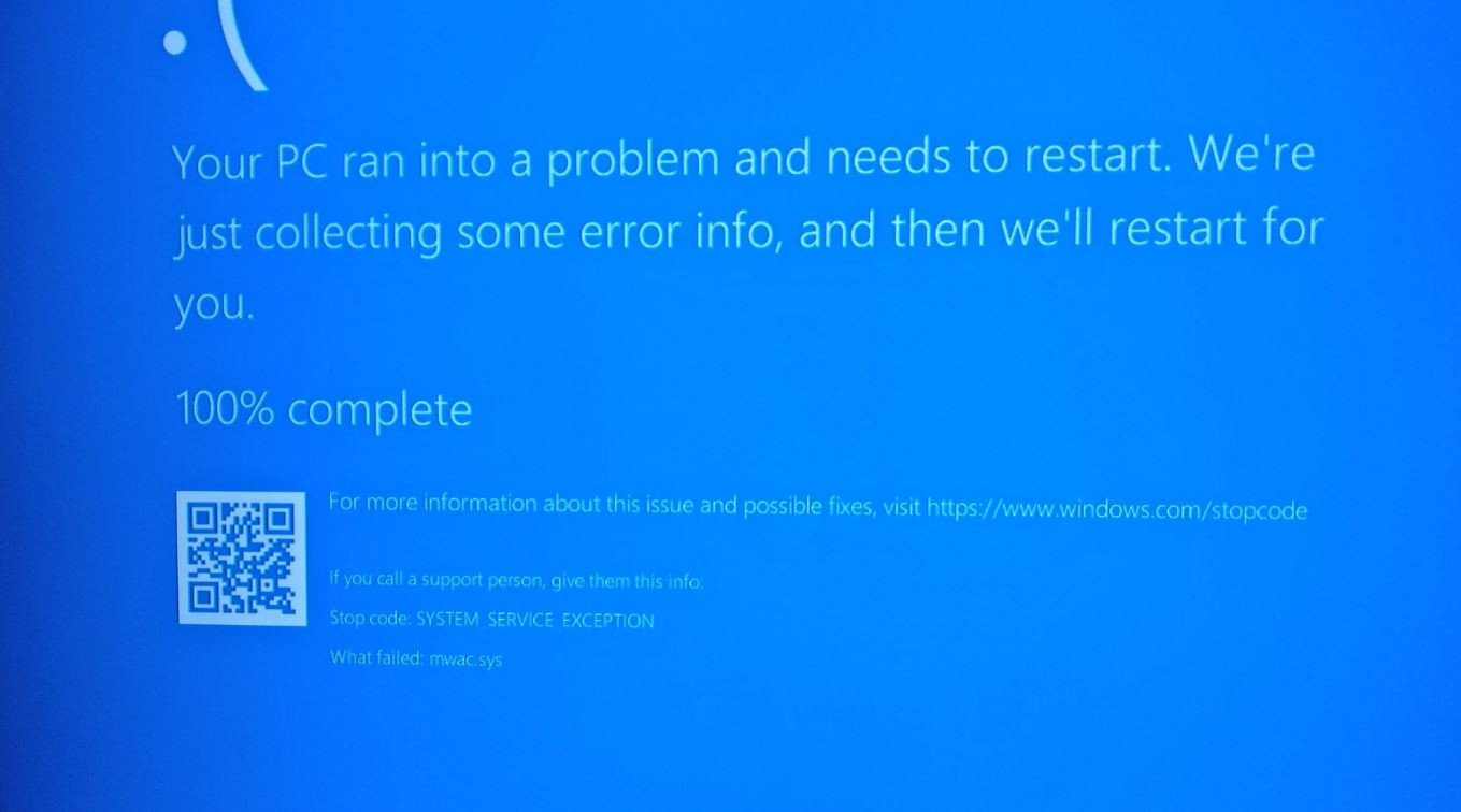 Windows 10 System_service_exception BSOD